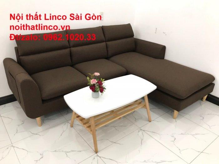 Sofa góc | Sopha góc L Nâu socola rẻ đẹp Hiện Đại ở tại Sofa Linco Long An4
