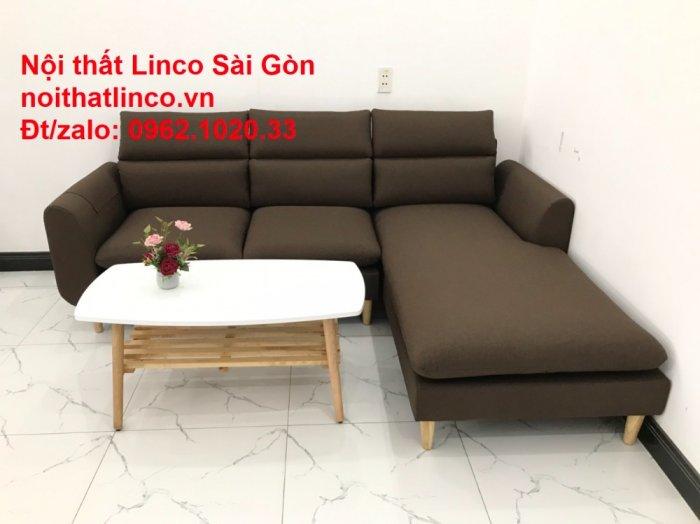 Sofa góc | Sopha góc L Nâu socola rẻ đẹp Hiện Đại ở tại Sofa Linco Long An3