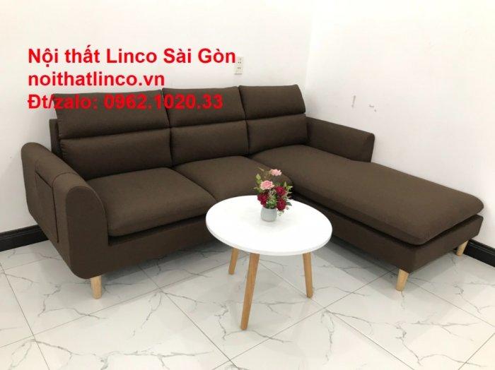 Sofa góc | Sopha góc L Nâu socola rẻ đẹp Hiện Đại ở tại Sofa Linco Long An2