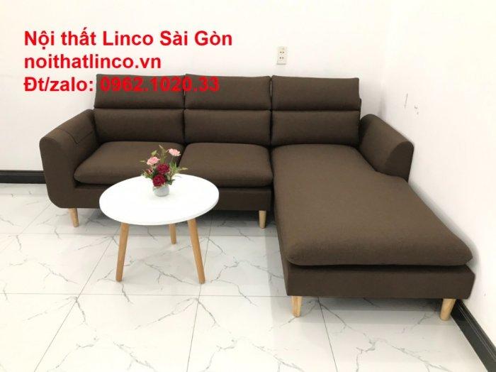 Sofa góc | Sopha góc L Nâu socola rẻ đẹp Hiện Đại ở tại Sofa Linco Long An1