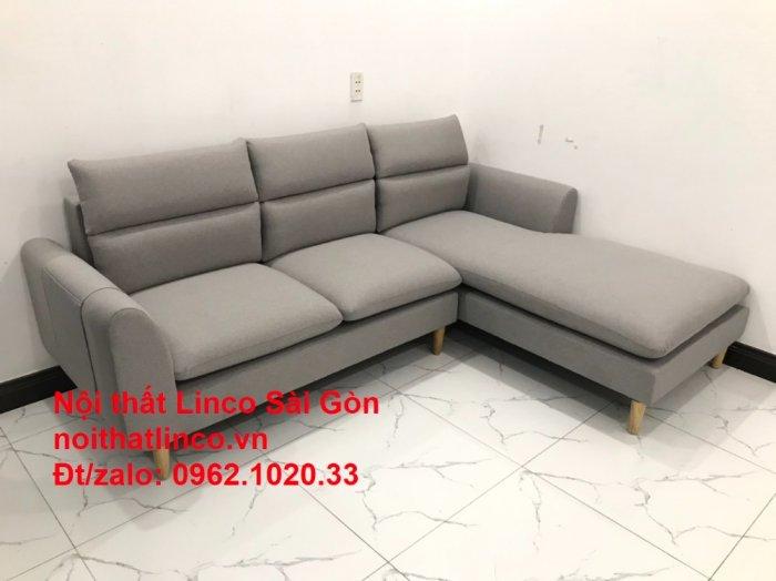 Bộ ghế sofa góc 2m2 xám trắng giá rẻ Nội thất phòng khách Linco HCM Sài Gòn10