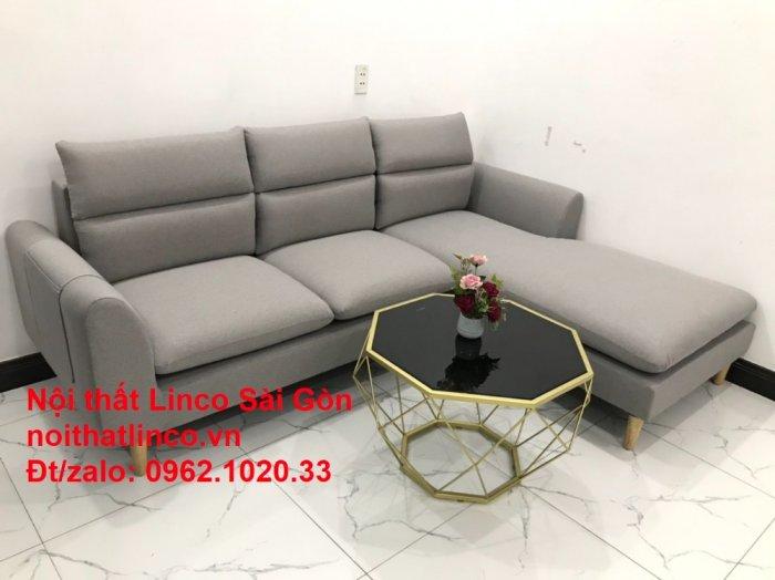 Bộ ghế sofa góc 2m2 xám trắng giá rẻ Nội thất phòng khách Linco HCM Sài Gòn8