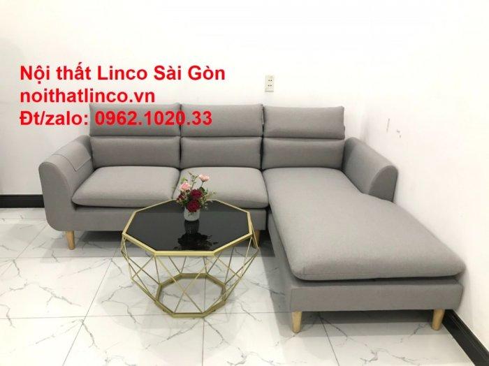 Bộ ghế sofa góc 2m2 xám trắng giá rẻ Nội thất phòng khách Linco HCM Sài Gòn7