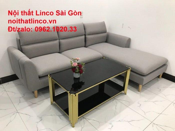 Bộ ghế sofa góc 2m2 xám trắng giá rẻ Nội thất phòng khách Linco HCM Sài Gòn6