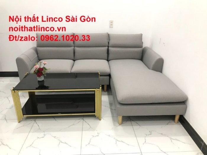 Bộ ghế sofa góc 2m2 xám trắng giá rẻ Nội thất phòng khách Linco HCM Sài Gòn5