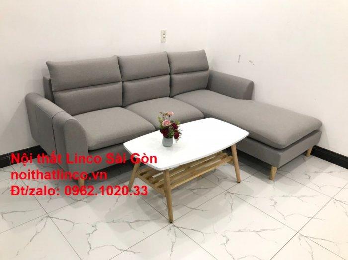 Bộ ghế sofa góc 2m2 xám trắng giá rẻ Nội thất phòng khách Linco HCM Sài Gòn4