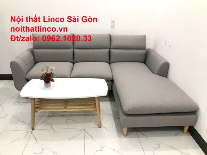 Bộ ghế sofa góc 2m2 xám trắng giá rẻ Nội thất phòng khách Linco HCM Sài Gòn3