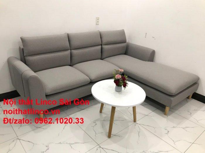 Bộ ghế sofa góc 2m2 xám trắng giá rẻ Nội thất phòng khách Linco HCM Sài Gòn2