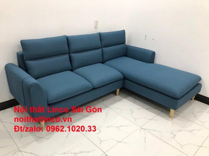 Ghế sofa góc   salon góc L xanh dương giá rẻ đẹp   Sofa phòng khách Linco Đồng Nai10