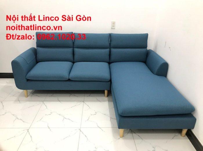 Ghế sofa góc   salon góc L xanh dương giá rẻ đẹp   Sofa phòng khách Linco Đồng Nai9