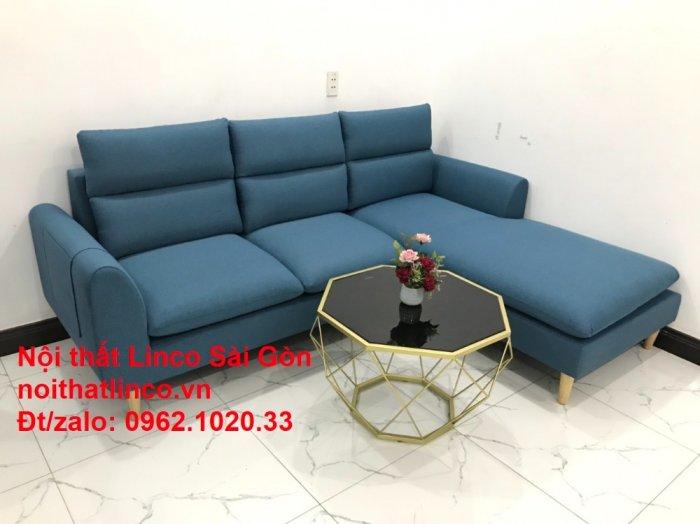 Ghế sofa góc   salon góc L xanh dương giá rẻ đẹp   Sofa phòng khách Linco Đồng Nai8