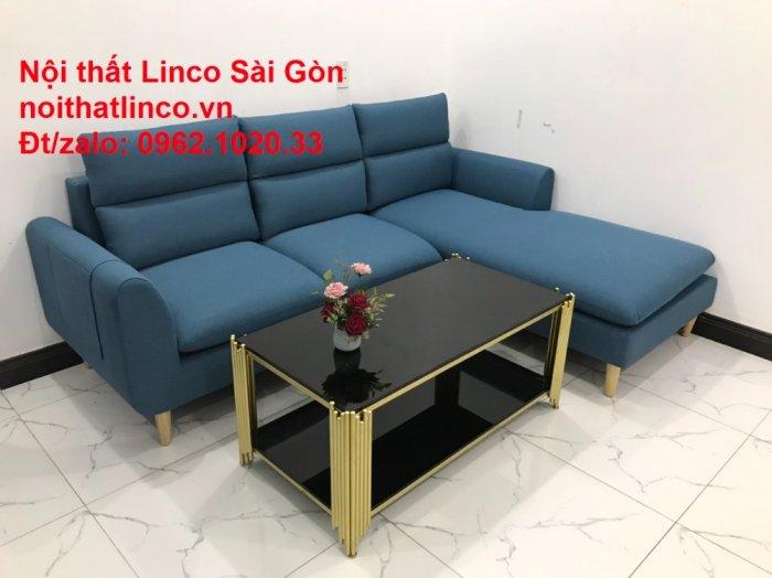 Ghế sofa góc   salon góc L xanh dương giá rẻ đẹp   Sofa phòng khách Linco Đồng Nai6