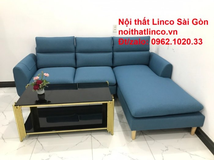 Ghế sofa góc   salon góc L xanh dương giá rẻ đẹp   Sofa phòng khách Linco Đồng Nai5