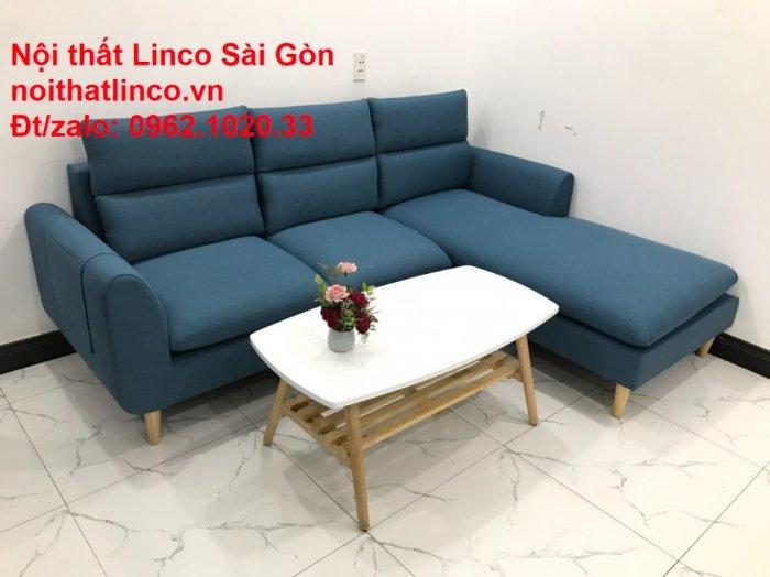 Ghế sofa góc   salon góc L xanh dương giá rẻ đẹp   Sofa phòng khách Linco Đồng Nai4