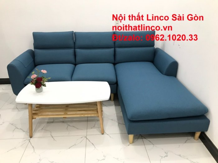 Ghế sofa góc   salon góc L xanh dương giá rẻ đẹp   Sofa phòng khách Linco Đồng Nai3