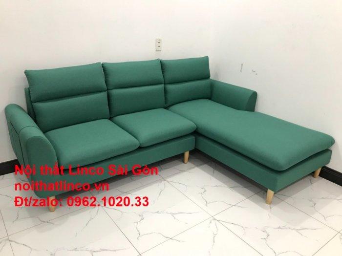 Sopha, salong góc   Sofa góc 2m2 xanh ngọc rẻ đẹp   Nội thất Linco HCM10