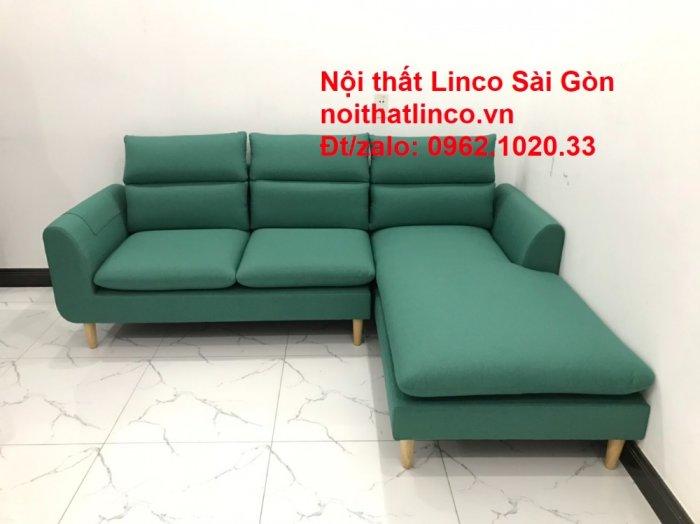 Sopha, salong góc   Sofa góc 2m2 xanh ngọc rẻ đẹp   Nội thất Linco HCM9