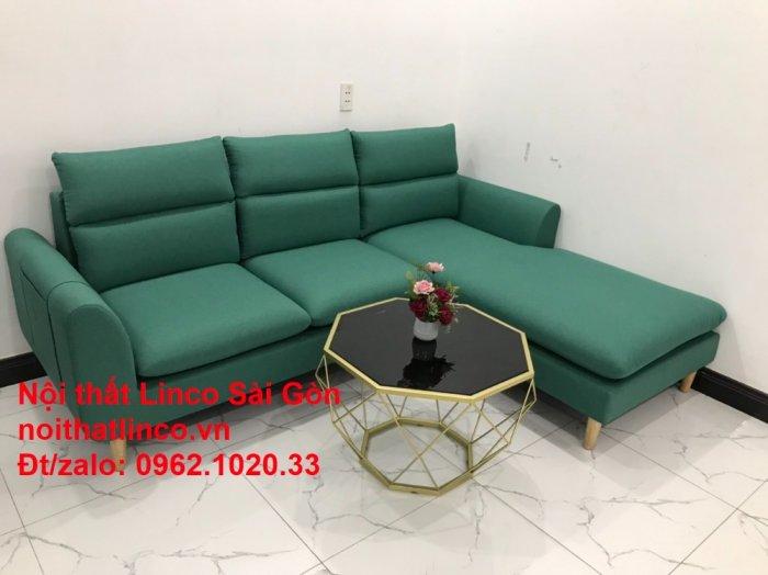 Sopha, salong góc   Sofa góc 2m2 xanh ngọc rẻ đẹp   Nội thất Linco HCM8