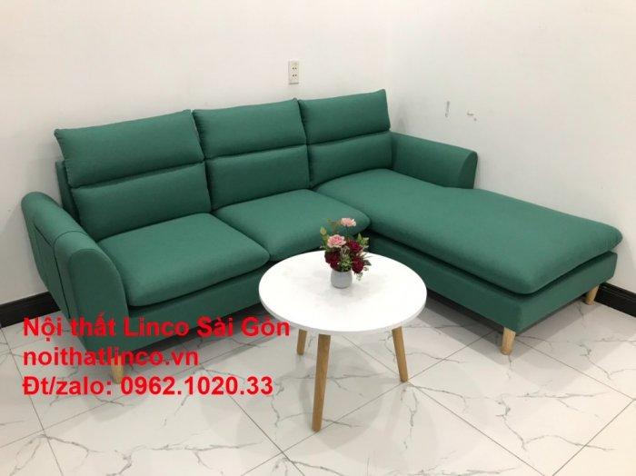 Sopha, salong góc   Sofa góc 2m2 xanh ngọc rẻ đẹp   Nội thất Linco HCM2