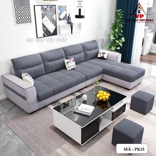 Sofa Phòng Khách Bằng Vải Với Kiểu Dáng Cực xinh0