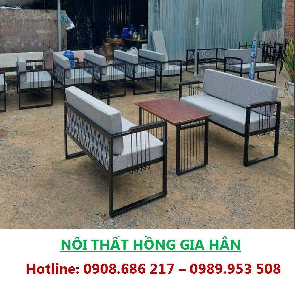 Bộ Sofa 2 Ghế Sắt Sơn Tĩnh Điện HGH0