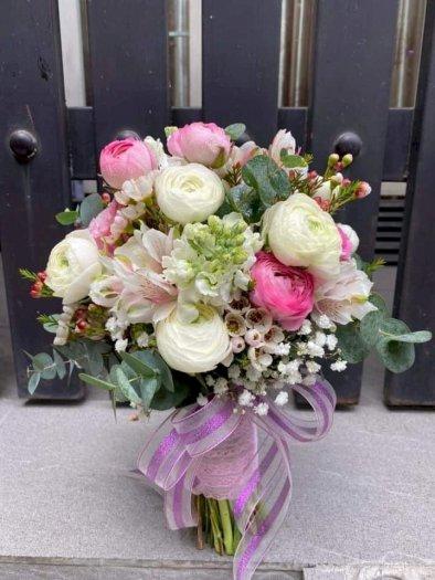 Bó hoa hồng cưới cầm tay tone màu nhẹ nhàng - LDNK130