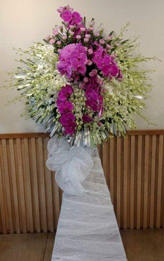 Lẵng hoa phúng viếng đám tang trịnh trọng - LDNK330