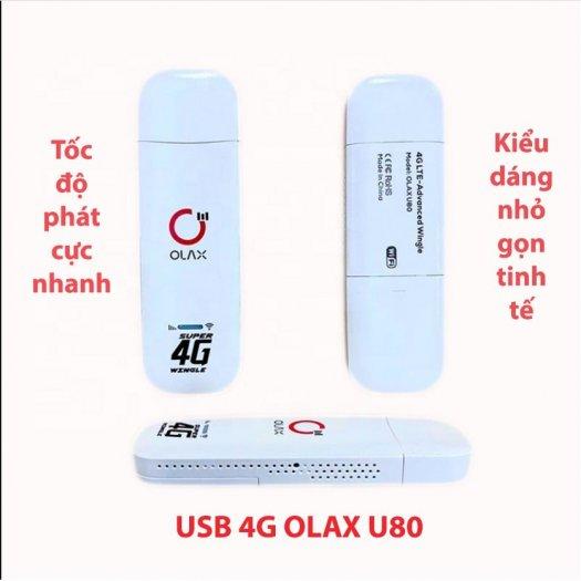 USB phát wifi từ sim 4G ZTE Olax U80 tốc độ cao new6