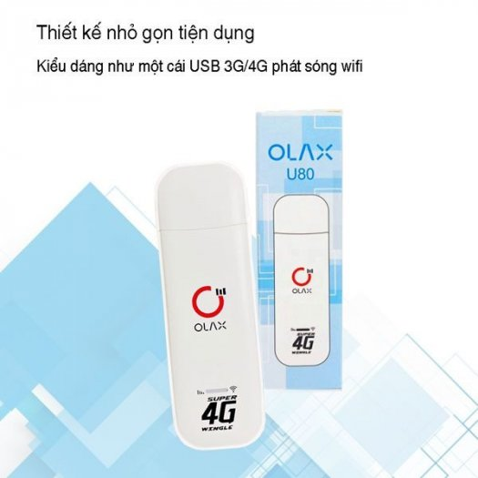 USB phát wifi từ sim 4G ZTE Olax U80 tốc độ cao new2