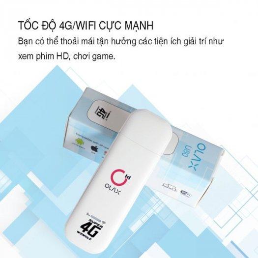 USB phát wifi từ sim 4G ZTE Olax U80 tốc độ cao new1