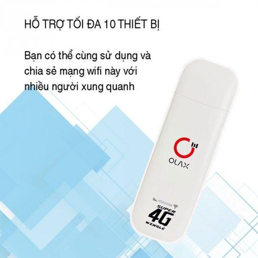 USB phát wifi từ sim 4G ZTE Olax U80 tốc độ cao new0