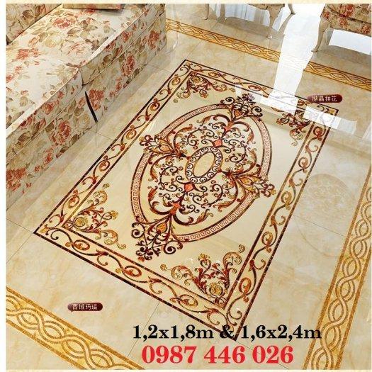 Gạch thảm sàn, gạch phòng khách trang trí đẹp 3d HP2488