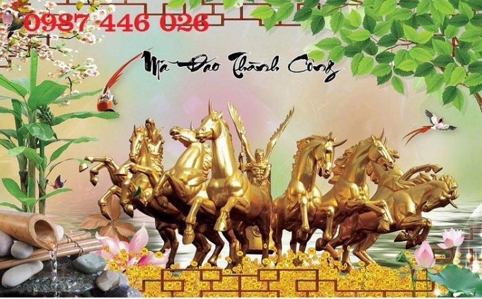 Tranh bát mã- gạch tranh 3d ốp tường HP01410