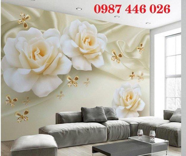 Gạch 3d tranh hoa ngọc bích ốp tường HP494411