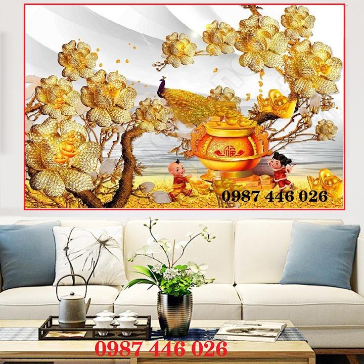 Gạch 3d tranh hoa ngọc bích ốp tường HP49449