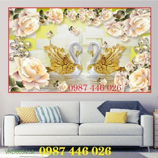Gạch 3d tranh hoa ngọc bích ốp tường HP49444