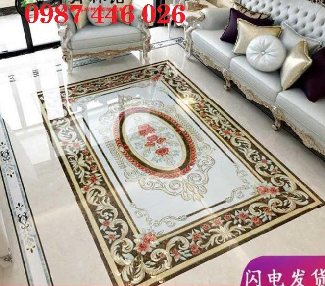 Thảm gạch phòng khách, gạch hoa văn lát nền sang trọng HP00137