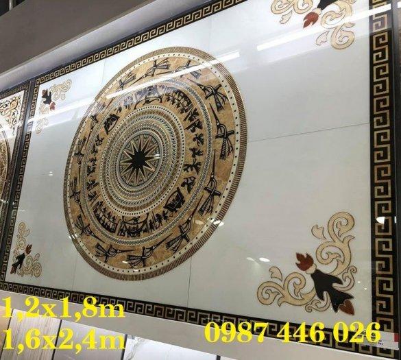 Thảm gạch phòng khách, gạch hoa văn lát nền sang trọng HP00133