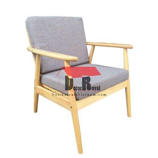 Ghế sofa gỗ ash chân tròn cho quán cafe3