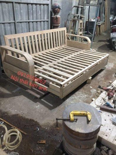 Ghế sofa giường kéo đa năng, bộ giường ghế gấp thông minh gỗ tự nhiên giá rẻ8
