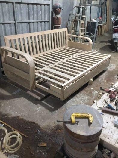Ghế sofa giường kéo đa năng, bộ giường ghế gấp thông minh gỗ tự nhiên giá rẻ7