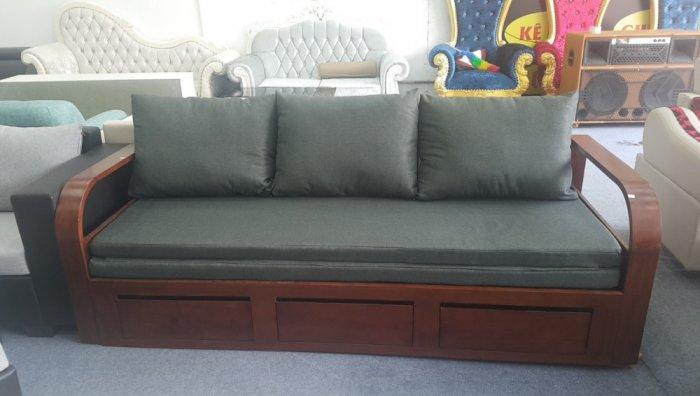 Ghế sofa giường kéo đa năng, bộ giường ghế gấp thông minh gỗ tự nhiên giá rẻ1