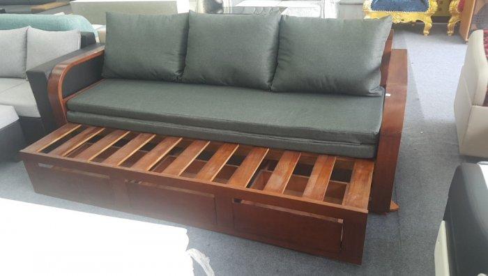 Ghế sofa giường kéo đa năng, bộ giường ghế gấp thông minh gỗ tự nhiên giá rẻ0