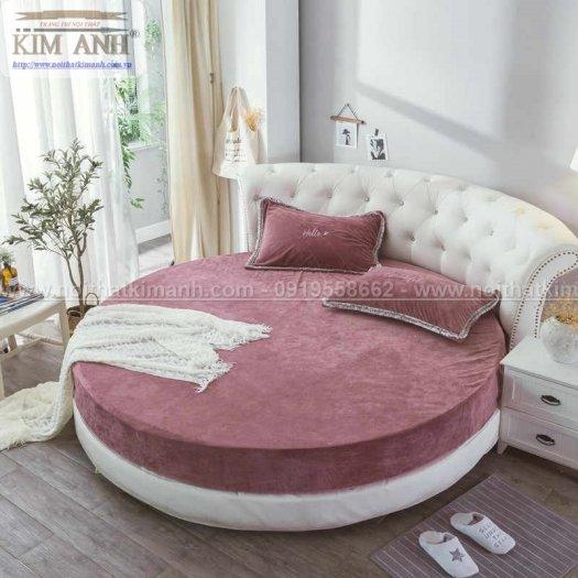 Giường tròn ngọc trinh, mẫu giường tròn cho bé gái sang chảnh sành điệu14