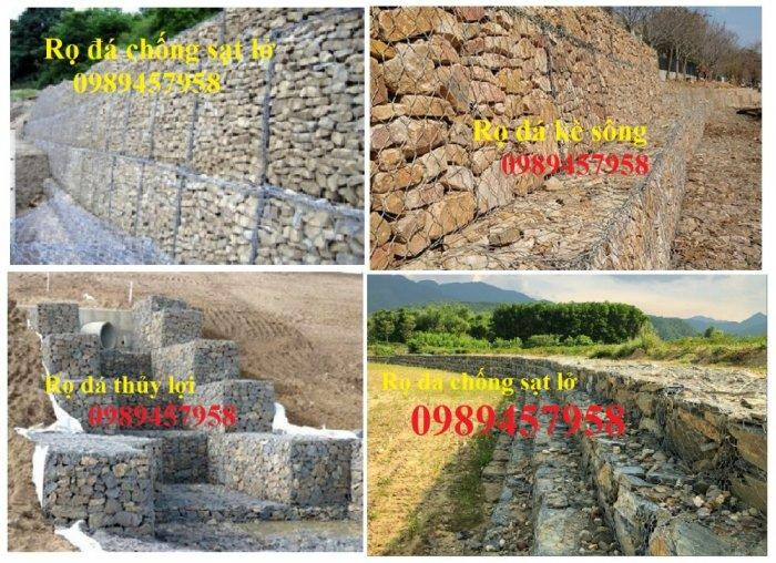 Rọ thép, rọ đá, thảm đá, rọ đá trang trí, rọ đá kè đường, kè sông, rọ đá chống sạt lở15