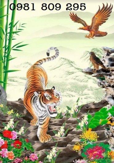 Tranh rồng hổ tranh đấu - gạch tranh 3d2