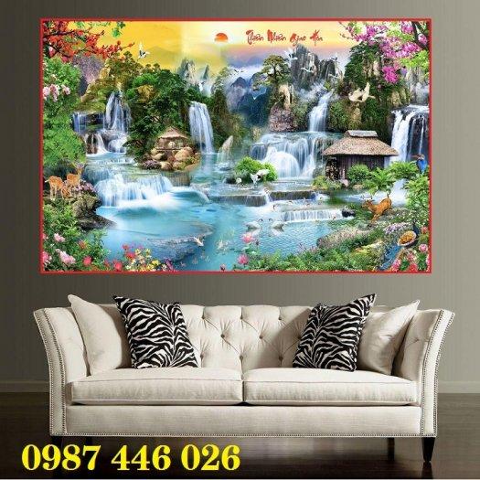 Tranh 3d, gạch trang trí, tranh ốp tường trên gạch  HP28578