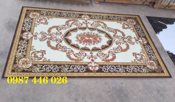 Gạch thảm sàn nhà trang trí đẹp hoa văn HP51057