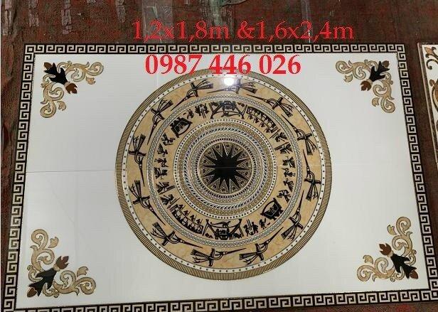Gạch thảm sàn nhà trang trí đẹp hoa văn HP51054