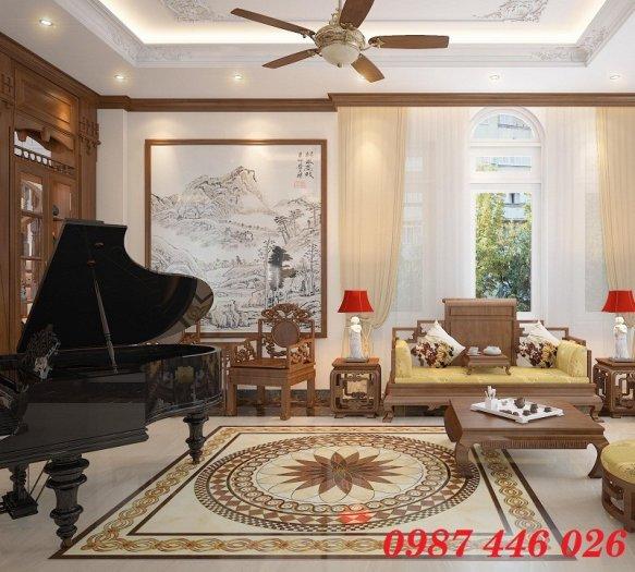 Gạch thảm chiếu nghỉ trang trí phòng khách đẹp HP01757